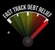 Velocímetro da amortização da dívida da via rápida ilustração royalty free