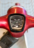 Velocímetro da motocicleta de Intage fotos de stock