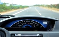 Velocímetro del coche Imágenes de archivo libres de regalías
