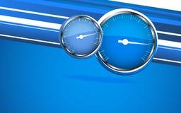 Velocímetro del coche del vector. Fondo abstracto Foto de archivo