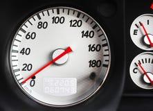 Velocímetro del coche deportivo Fotografía de archivo