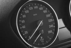 Velocímetro del coche e indicador llano del diesel Fotos de archivo