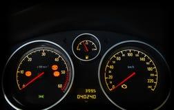 Velocímetro do carro Foto de Stock