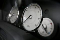 Velocímetro do carro fotografia de stock royalty free