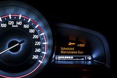Velocímetro do carro com exposição de informação Foto de Stock Royalty Free