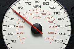 Velocímetro em 50 MPH Foto de Stock Royalty Free