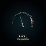 Velocímetro - ilustração do pixel Imagem de Stock