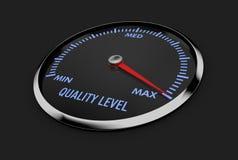 Velocímetro - nivel de calidad ilustración del vector