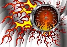 Velocímetro no incêndio Foto de Stock Royalty Free