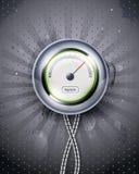 Velocímetro o reloj del icono. EPS10 Fotografía de archivo libre de regalías