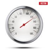 Velocímetro redondo clássico da escala Vetor Fotos de Stock Royalty Free
