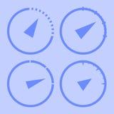 Velocímetros ajustados Fotografia de Stock