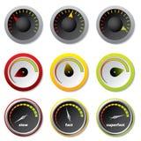 Velocímetros para downloads ilustração stock