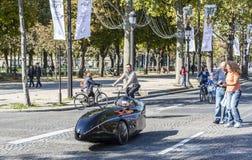 Velocar futuriste - Journee sans Voiture, Paris 2015 Photographie stock