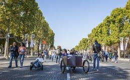 Velocars - Journee sin Voiture, París 2015 Imagenes de archivo