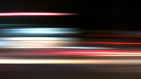 Velocidad abstracta de Nightride en fondo negro Fotografía de archivo