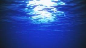 Velocidad bajo fondo de la animación del nivel de la agua de mar del océano
