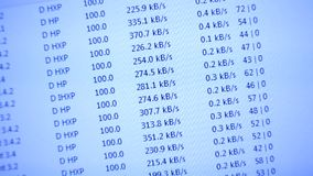 Velocidad de Internet en el monitor de computadora Fotografía de archivo libre de regalías