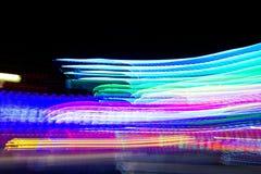 Velocidad de la luz de neón Imagen de archivo libre de regalías