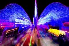 Velocidad de la luz de neón Imágenes de archivo libres de regalías