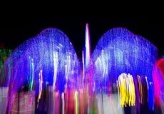 Velocidad de la luz de neón Imagenes de archivo