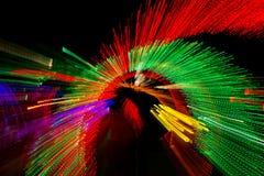 Velocidad de la luz de neón Foto de archivo