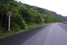 Velocidad de la manera peligrosa Foto de archivo