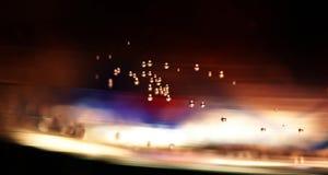 Velocidad de los bubles de la luz Foto de archivo libre de regalías