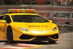Velocidad de seguridad rival del supercar del coche que compite con Imágenes de archivo libres de regalías