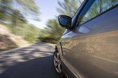Velocidad del coche Fotografía de archivo libre de regalías