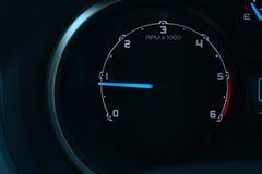 Velocidad del motor del monitor de la situación Imágenes de archivo libres de regalías