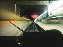 Velocidad en el subterráneo fotografía de archivo libre de regalías