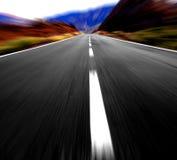 Velocidad en la carretera imagen de archivo