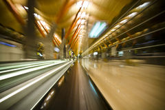 Velocidad en la terminal Fotos de archivo libres de regalías