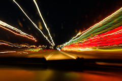 Velocidad excesiva por el conductor borracho Imágenes de archivo libres de regalías