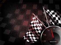 Velocidad que compite con el fondo Imagenes de archivo