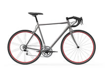 Velocidad que compite con la bicicleta aislada en el fondo blanco stock de ilustración
