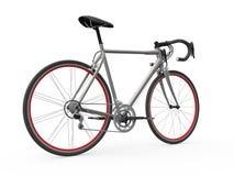Velocidad que compite con la bicicleta aislada en el fondo blanco Foto de archivo libre de regalías