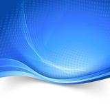 A velocidade azul da beira alinha o molde da abstração Imagens de Stock Royalty Free