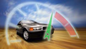 Velocidade bonita sportcar na estrada imagens de stock royalty free