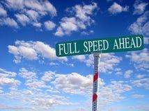 Velocidade cheia adiante foto de stock