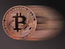 Velocidade de Bitcoin Fotografia de Stock Royalty Free