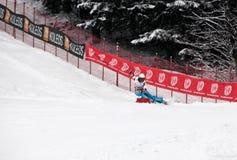 Velocidade de Melanie Burgener que cinzela o campeão 2011 do mundo Fotografia de Stock Royalty Free