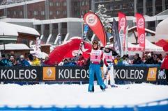 Velocidade de Melanie Burgener que cinzela o campeão 2011 do mundo Foto de Stock