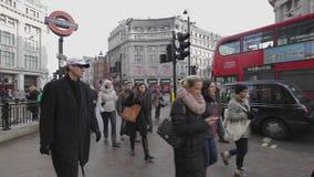 Velocidade de Oxford Circus Londres video estoque