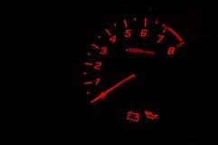 Velocidade do calibre de carro Foto de Stock