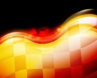 A velocidade do carro de corridas inflama o fundo Imagens de Stock