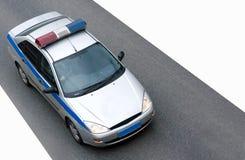 Velocidade do CARRO de POLÍCIA foto de stock