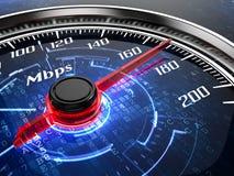 Velocidade do Internet ilustração stock