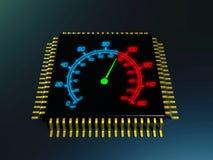Velocidade do processador central ilustração royalty free